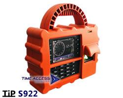 TiP S922 ระบบสแกนนิ้วมือแบบเคลื่อนย้ายได้ กันน้ำ ดึงข้อมูลผ่าน GPRS เสียบซิมการ์ดใช้ได้ทันที